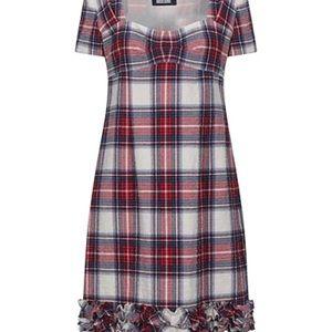 Boutique Moschino tartan plaid dress size 44 Italy